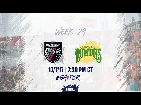 USL LIVE - San Antonio FC vs Tampa Bay Rowdies 10/7/17