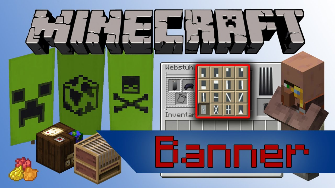 Minecraft Alle Banner Muster Youtube 1