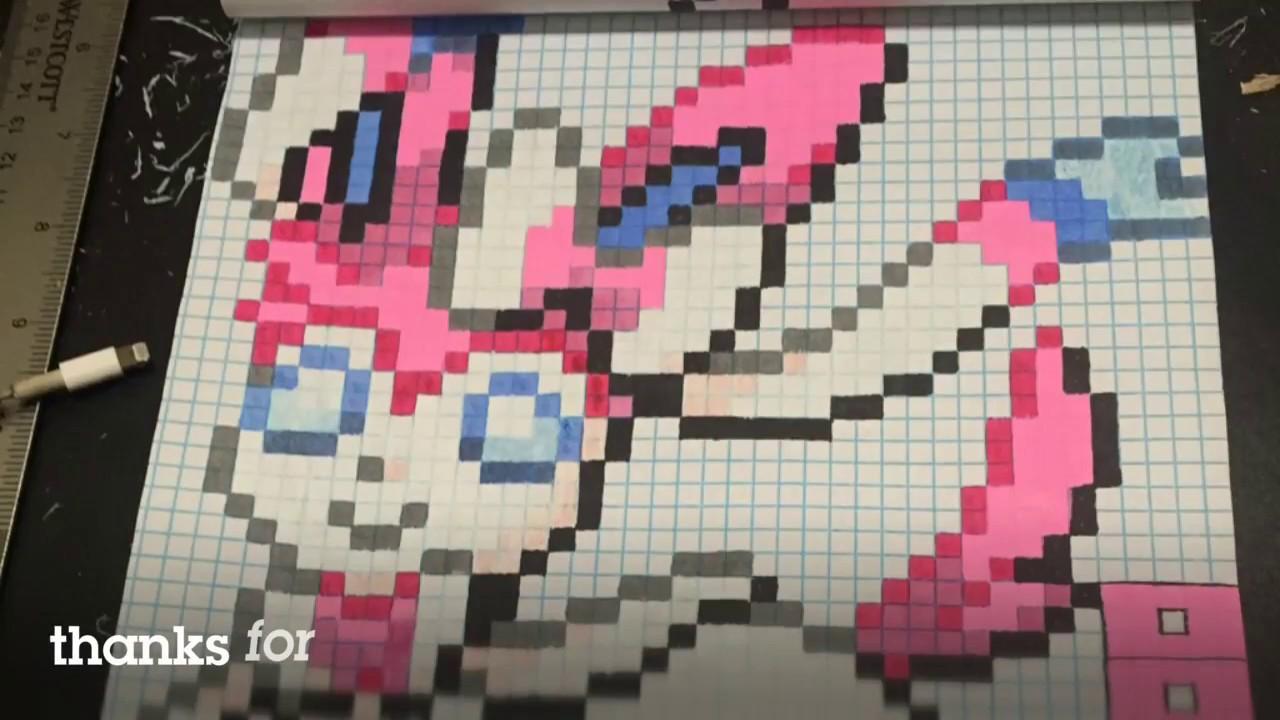 Sylveon Pixel Art Perler Bead Pattern Youtube