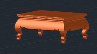 Auto CAD Training Table  3D, Table Create