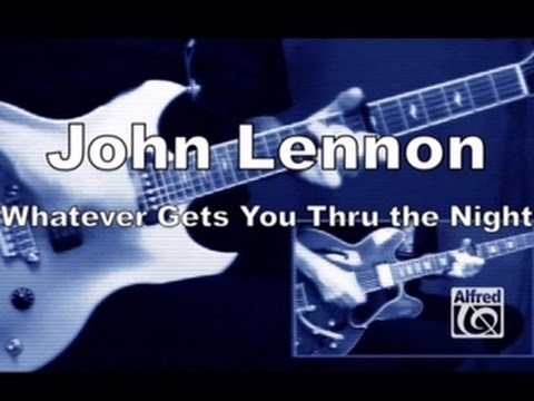 "How to Play ""Whatever Gets You Thru the Night"" by John Lennon on Guitar - Lesson Excerpt"