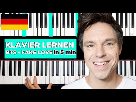 BTS - Fake Love - Learn to play piano in 5 minutes!