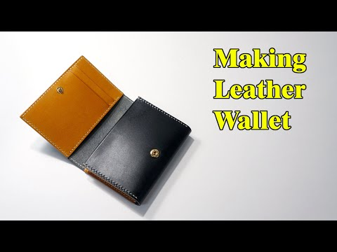 41 [Leather Craft] Making Leather Wallet / [가죽공예] 가죽 지갑 만들기 / Free Pattern