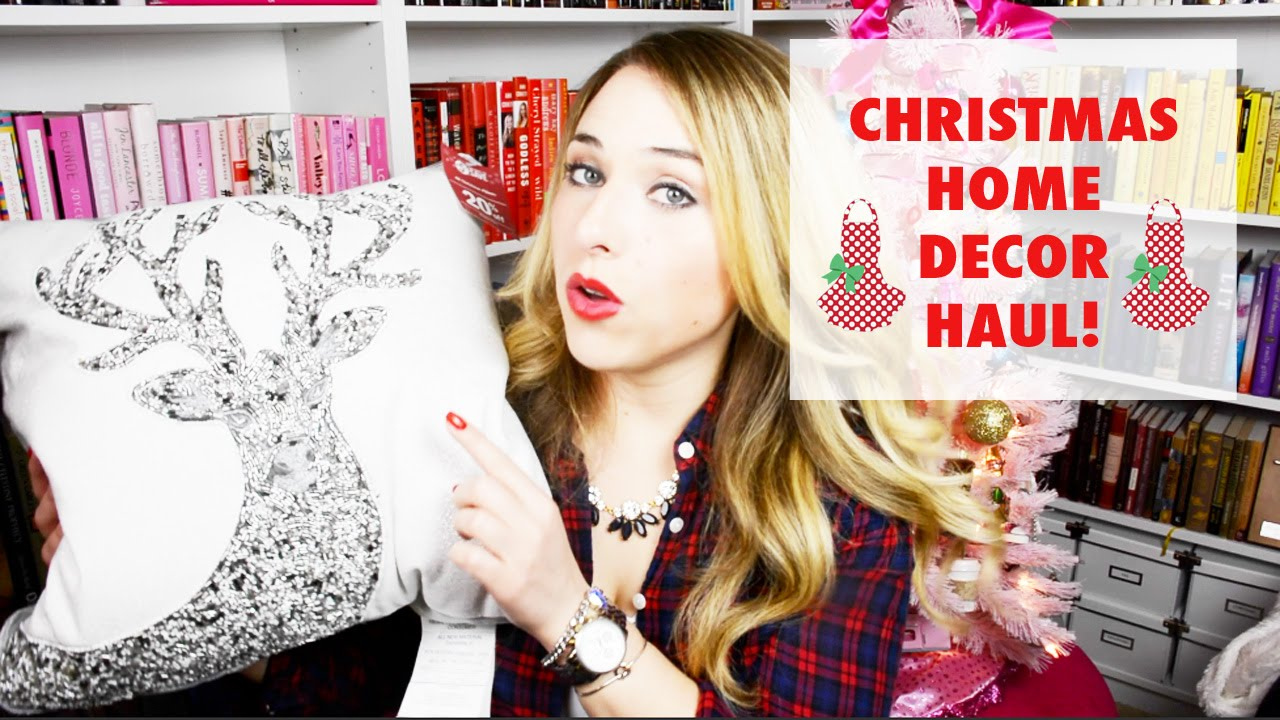 Christmas Home Decor Haul Pier One Target Home Goods Youtube
