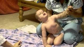 Lane @ 29 months w/ Full Trisomy 18 is now able to pull himself up into a crawl position
