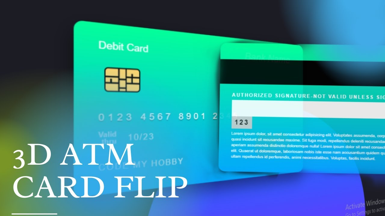3d Flip Atm Card Hover Effect | Using HTML AND CSS
