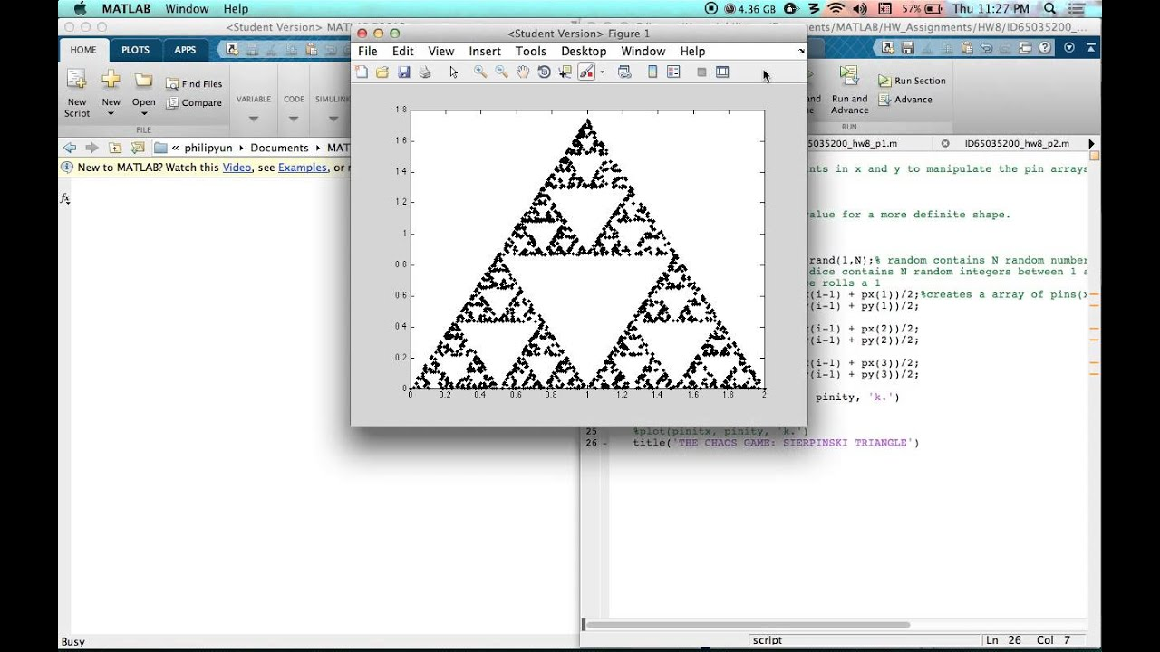 The Chaos Game: Sierpinski Triangle