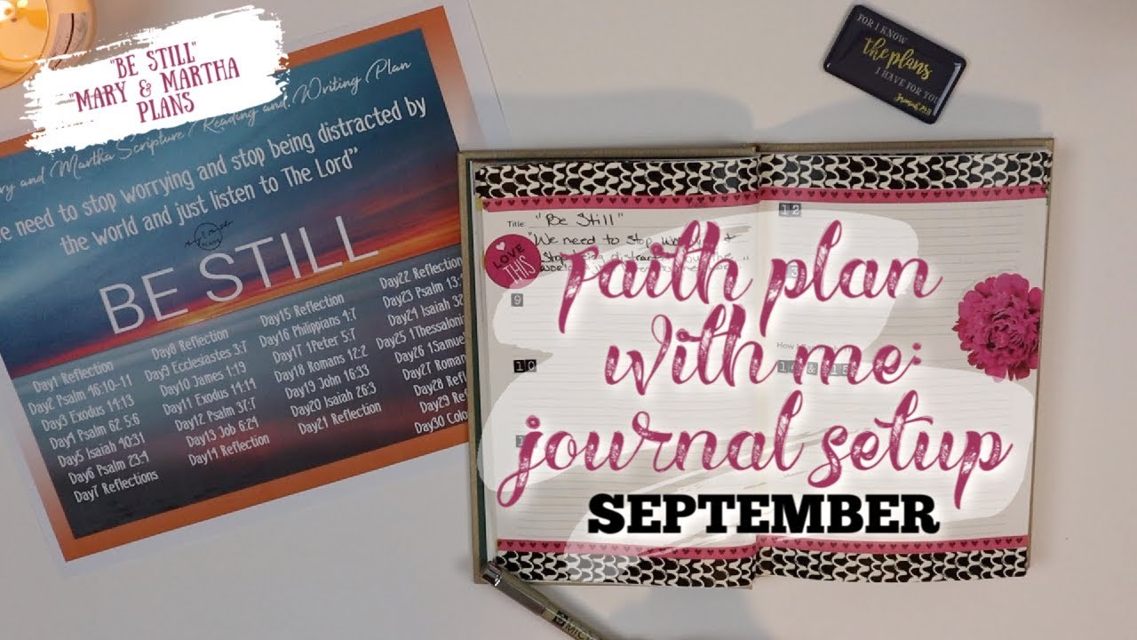 Faith Plan With Me | SEPTEMBER 2019 | Scripture Writing Journal Setup |  Beginners | Be Still 💜