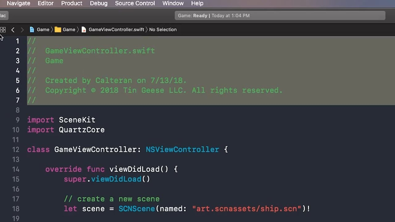 TIL: Customizing Xcode File Header Comments – Calteran