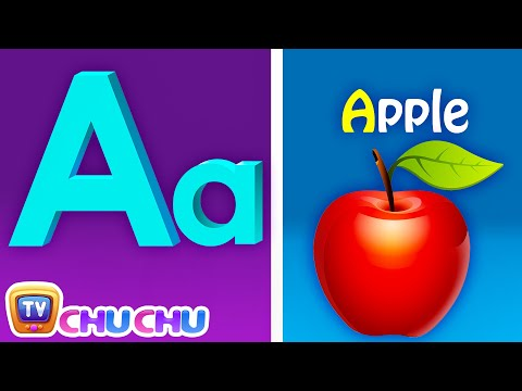 Phonics Song with TWO Words  A For Apple  ABC Alphabet Songs with Sounds for Children