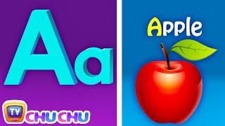 Phonics Song with TWO Words - A For Apple - ABC Alphabet Songs with Sounds for Children thumbnail