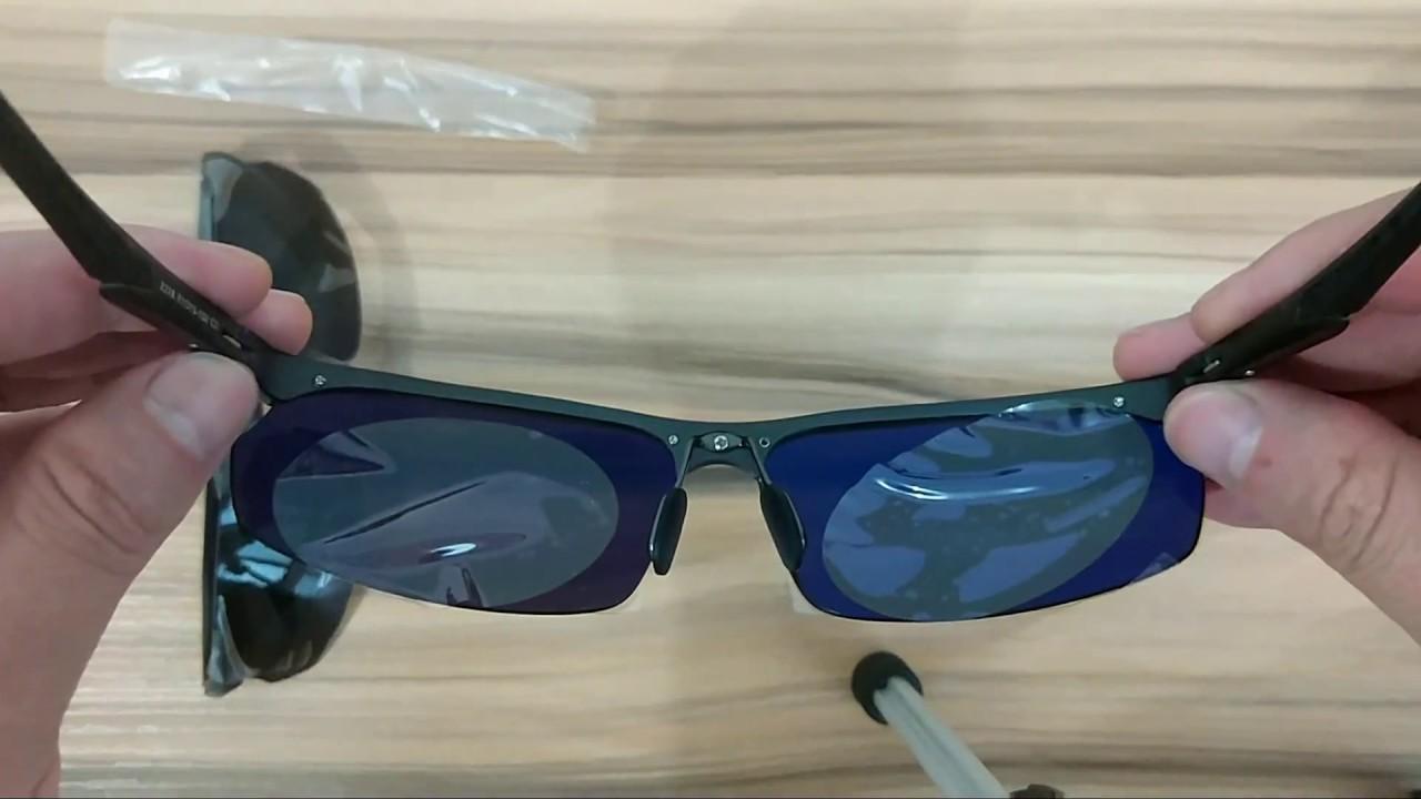 d042523b085 Black Polarized Rimless Sunglasses Inner Coating Blue Lens - YouTube