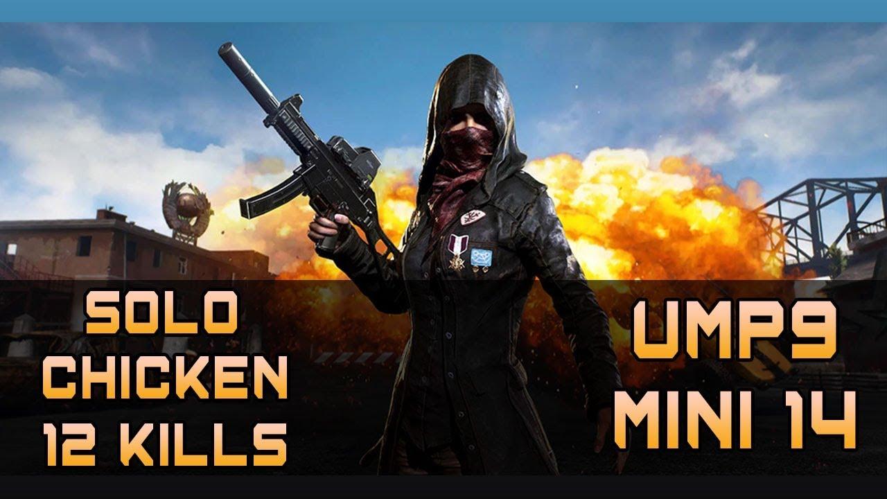 PUBG Mobile (Emulator) | Solo Chicken Dinner | 12 Kills | UMP9 & Mini 14 Combo