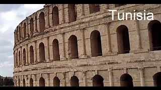 El Djem (El Jem), Tunisia - HD Video - Outside the Roman Ampitheatre