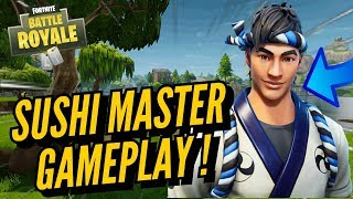 SUSHI MASTER Skin Gameplay! In Fortnite Battle Royale..