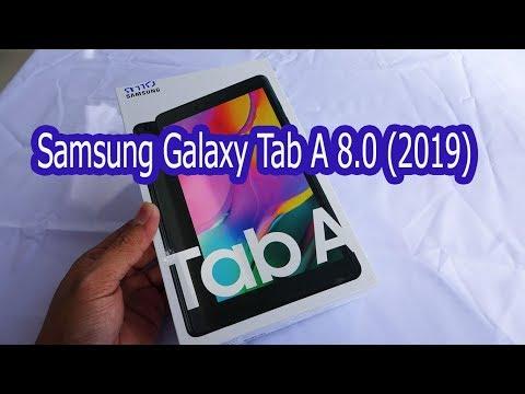 Samsung Galaxy Tab A 8.0 (2019) black color unboxing | SM-T295