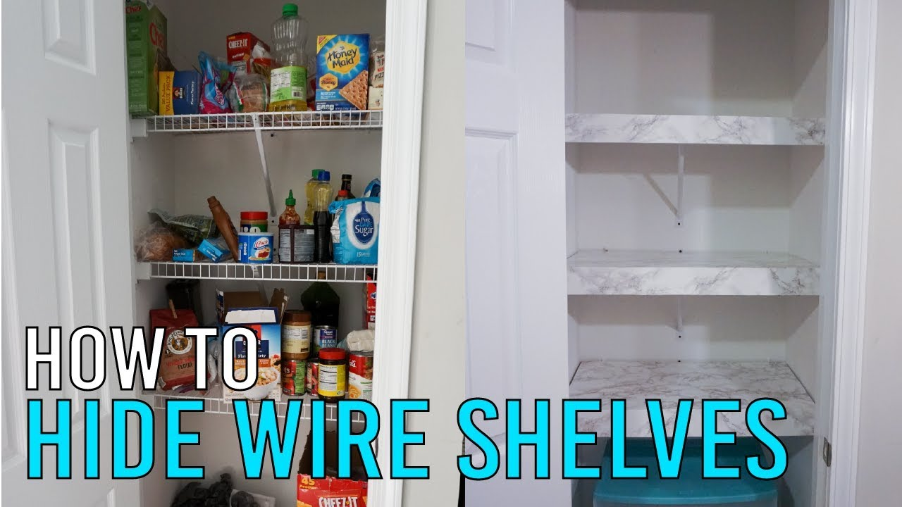 How to Hide Wire Shelves (Renter Friendly) Wiring Shelves on