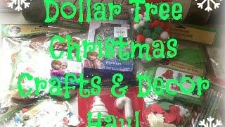 Dollar Tree Christmas Crafts & Decor Haul | Vlogmas Day 4