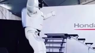 Honda ASIMO robot at an exhibition in Moscow, Russia