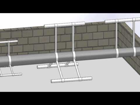 Small Telecommunications Pole, Foundation and Raising System for Rooftop Installations