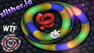 Slither.io - Shout Out To Most Lucky Longest Worm | Funny Momment