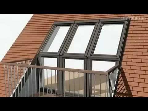 Velux -окно-балкон gdl cabrio - youtube.