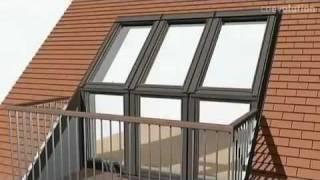 VELUX -ОКНО-БАЛКОН GDL Cabrio(ОКНО-БАЛКОН GDL Cabrio Очаровательный вид открывается с балкона GDL CABRIO, окно открывается, чтобы создать балкон..., 2012-02-10T03:18:49.000Z)