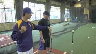 high tee drill with demarini lsu baseball