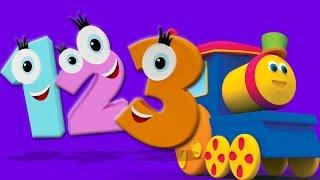 Боб Поезд номер песни   3D Обучающие видео   3D Educational Video   Bob Train Number Song