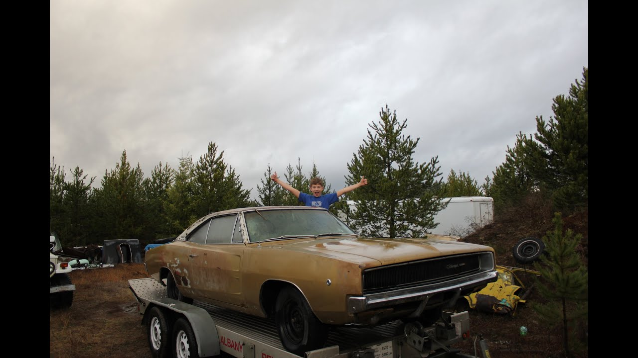 1968 dodge charger junkyard find