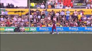 Kieron Pollard - Marvellous Catch against Australia - Cricket ODI 6th Feb 2013 - HD