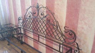 видео кованая кровать