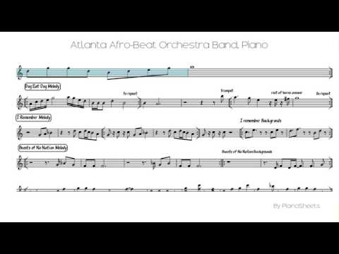 Atlanta Afro-Beat Orchestra Band [Piano Solo]