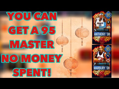 HOW TO GET THE 95 OVR LUNAR NEW YEAR MASTERS WITHOUT SPENDING MONEY IN NBA LIVE MOBILE!