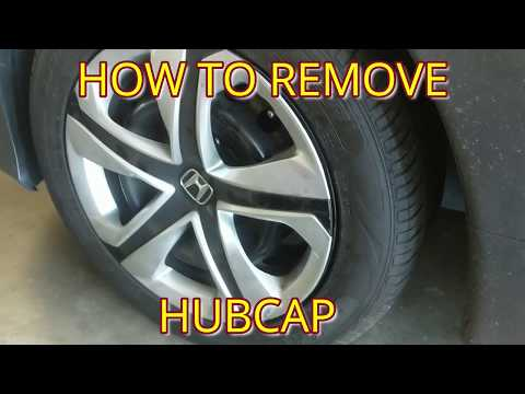HOW TO REMOVE / INSTALL HUBCAPS, WHEEL COVER, HUB CAP FROM HONDA CIVIC