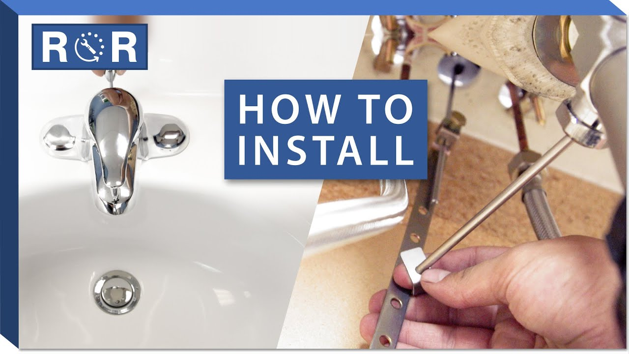 Bathroom Faucet Installation 1 Handle Centerset Pop Up Drain Youtube