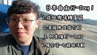 日本東京自由行(Day-1)成田機場扭蛋區、町屋格蘭公寓、阿美橫町Loft、晴空塔夜景-七龍珠活動