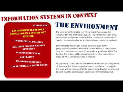 Information Systems in Context   The Environment