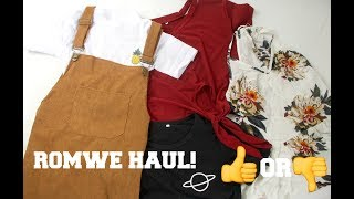 ROMWE TRY ON HAUL | SCAM OR NOT?!?