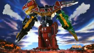 Power Rangers Dino Charge - All Megazord Fights