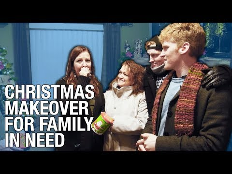 Deserving Family Gets Christmas Makeover (GIVE BACK)