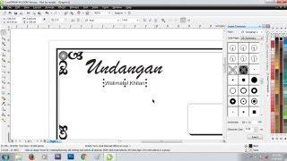 Gambar cover Cara membuat undangan walimatul khitan hvs lipat 3 di coreldraw x4