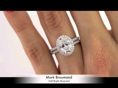 3 11ct Oval Cut Diamond Engagement Anniversary Ring Mark
