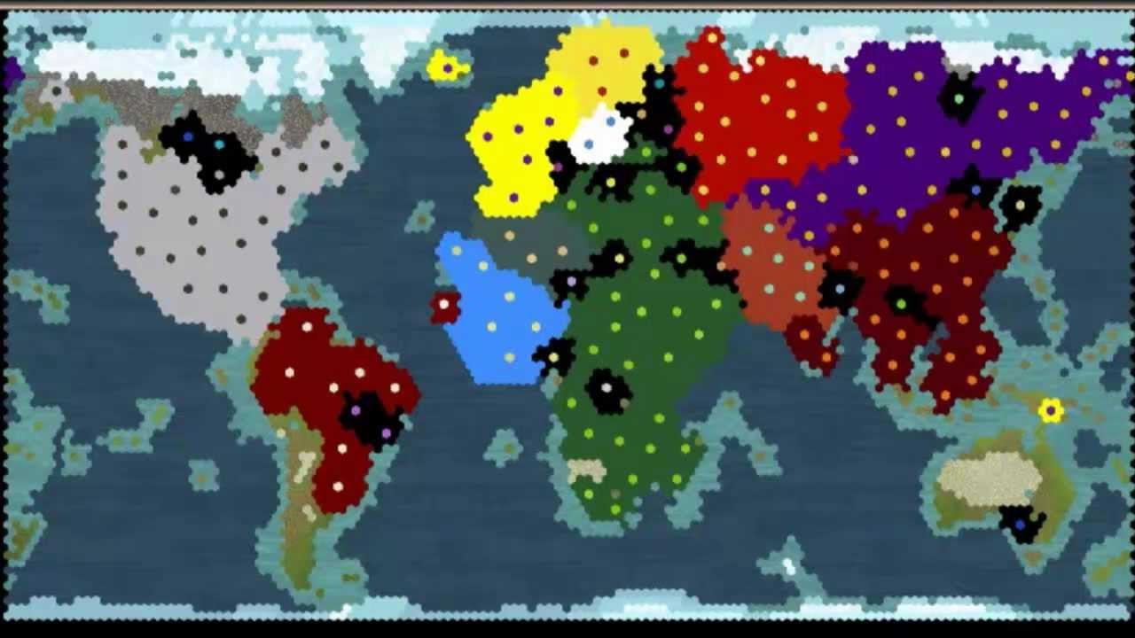 Civilization Map 6 Continents