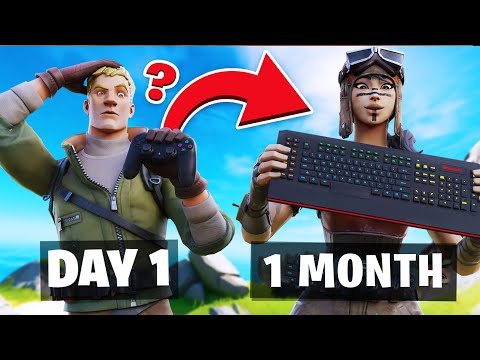 1 Month PS4 To PC Progression! Controller To Keyboard & Mouse Fortnite! (Fortnite PS4 To PC Journey)