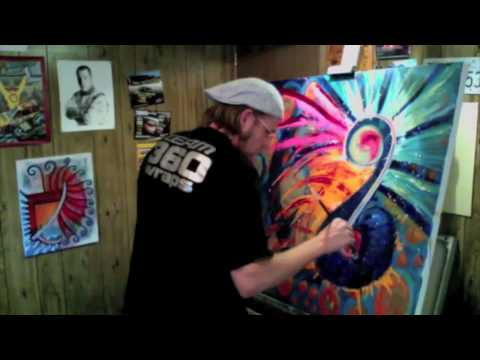 """Vlog entry 2 Painting """"Source Energy 2"""" Allowistic Painting"""