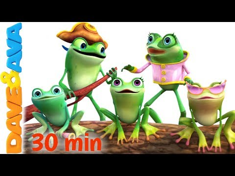 Thumbnail: 🎯 Five Little Speckled Frogs | Nursery Rhymes Collection from Dave and Ava 🎯