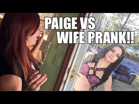 WWE DIVA PAIGE WANTS TO WRESTLE WIFE PRANK!