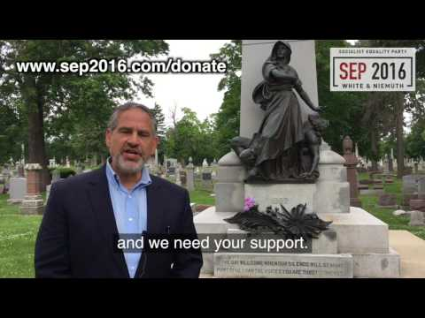 Jerry White at Haymarket monument: Donate to SEP 2016 campaign