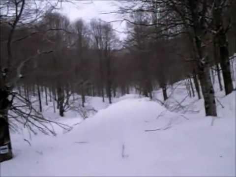 Ingresso di una Grotta, Orme di Animali ed impronte di Altre Ciaspole 27-02-2012 (03)